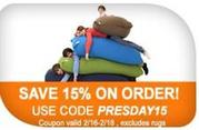 Get 15% Off On All Type Bean Bags